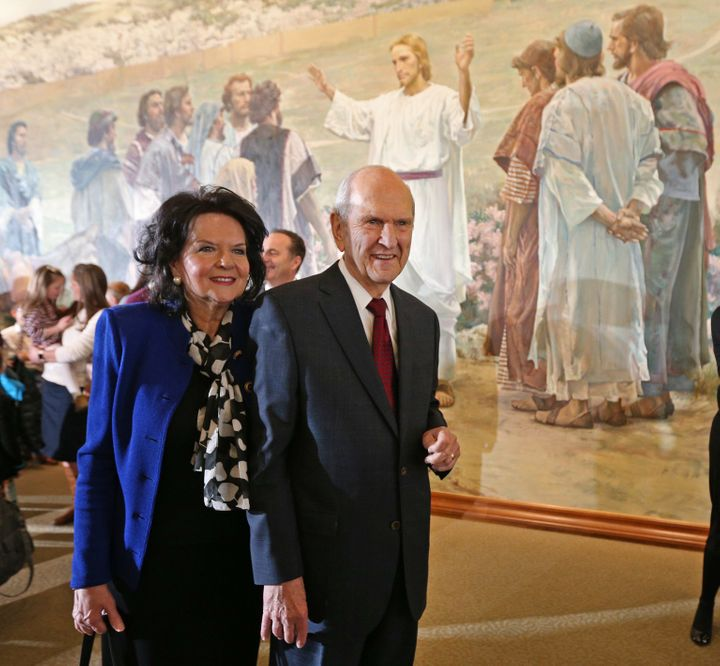President Russell M. Nelson of the Church of Jesus Christ of Latter-Day Saints with his wife, Wendy L. Watson Nelson.