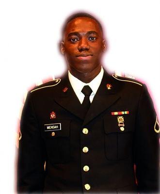 <em>New York Army National Guard Pfc. Emmanuel Mensah. </em>