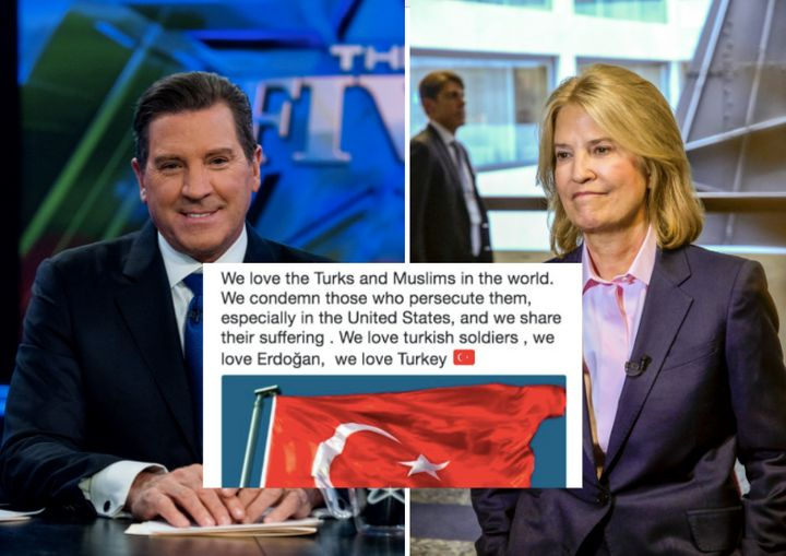 Eric Bolling and Greta Van Susteren's Twitter accounts were temporarily hacked on Tuesday.