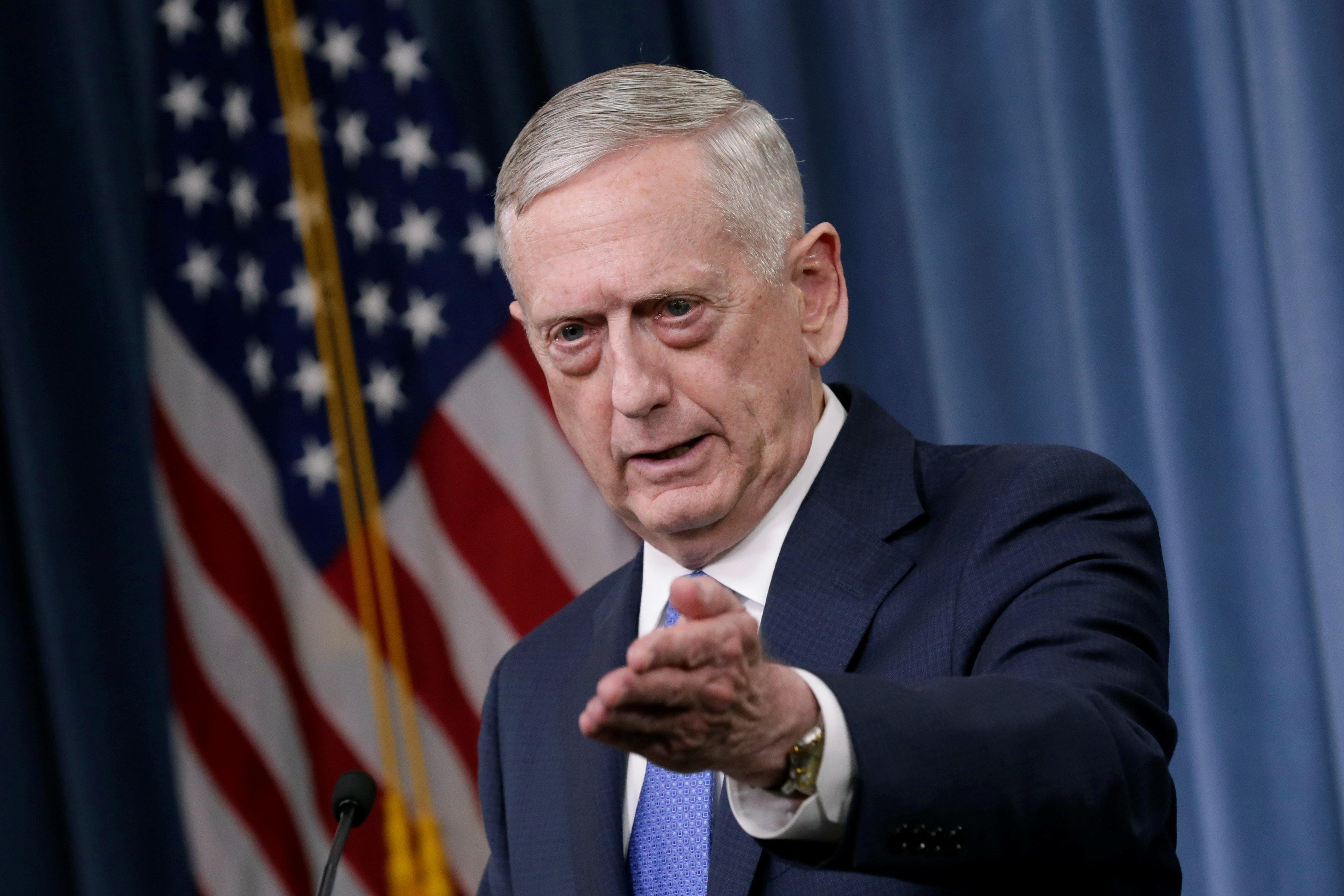 U.S. Defense Secretary James Mattis on May 19,