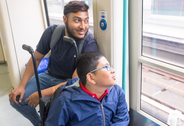 Oasi has complex needs, and Georgeiul volunteers on the Sense buddying service, a programme directly aimed at tackling loneliness for young disabled people in the community.
