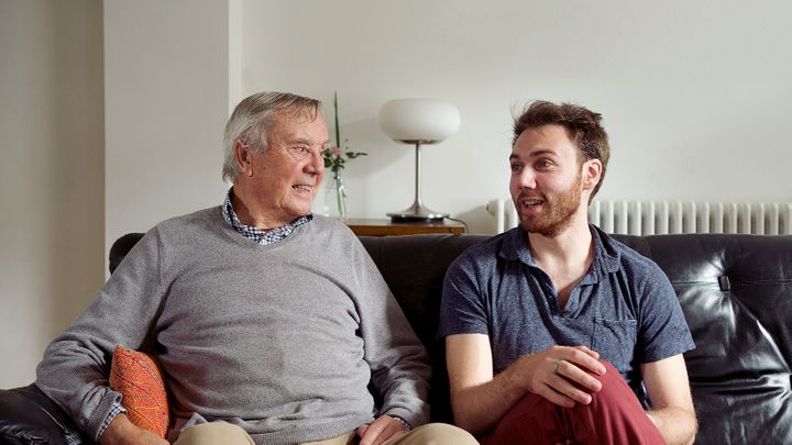 Barry and Joe from 'The Loneliness Project' – the Campaign to End Loneliness' viral film to raise awareness of loneliness.