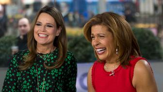 TODAY -- Pictured: (l-r)  Savannah Guthrie and Hoda Kotb on Thursday Jan. 11, 2018 -- (Photo by: Zach Pagano/NBC/NBCU Photo Bank via Getty Images)