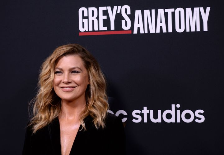 "Ellen Pompeo arrives at the 300th episode celebration for ABC's ""Grey's Anatomy"" on Nov. 4, 2017."