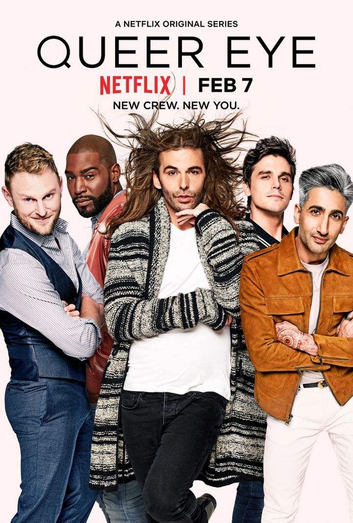 "From left: Bobby Berk, Karamo Brown, Jonathan Van Ness,Antoni Porowski and Tan France will lead the ""Queer Eye"" makeove"