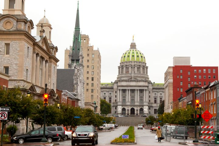 The Pennsylvania State Capitol in Harrisburg in 2011.