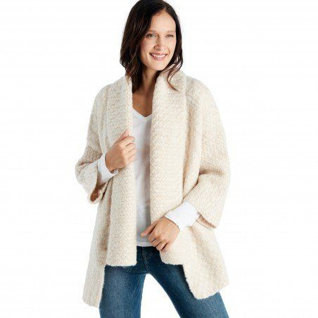 """A <a href=""""http://www.solesociety.com/ss617-scarf-beige.html"""" target=""""_blank"""">solid, comfy cardigan</a> will become the"""