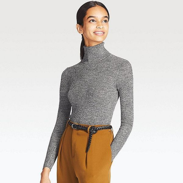 "This <a href=""https://www.uniqlo.com/us/en/women-extra-fine-merino-ribbed-turtleneck-sweater-400347.html?dwvar_400347_color=C"