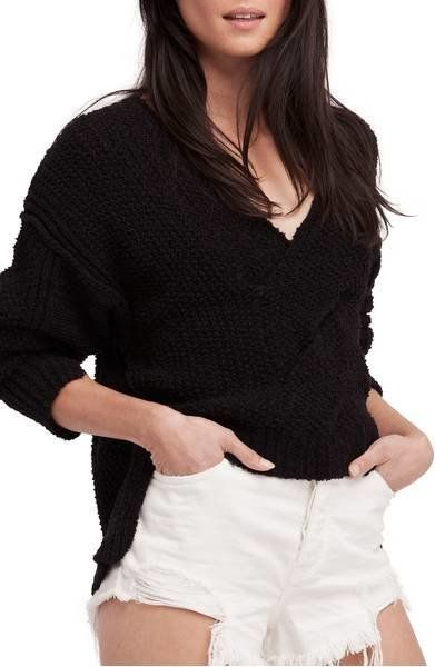 """This is a great option for a quick pullover or an <a href=""""https://shop.nordstrom.com/s/free-people-coco-v-neck-sweater/48264"""