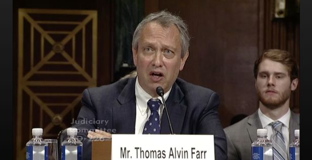 Thomas Farr one of President Donald Trumps district court nominees