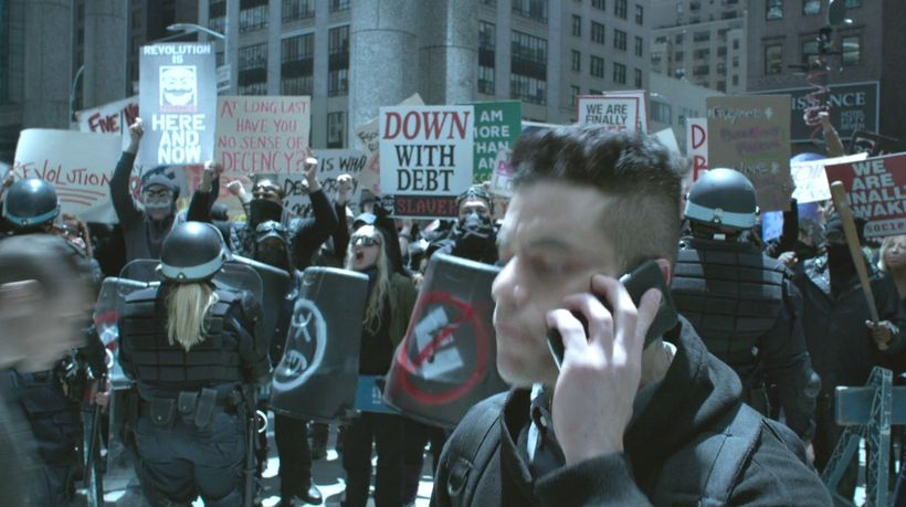 <strong>Uprising in Mr. Robot, Series 3, Episode 5, </strong> <strong>2017.</strong>