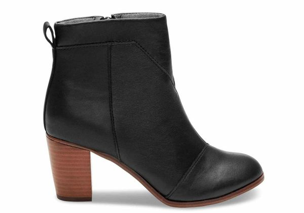"""These classic booties from <a href=""""http://www.toms.com/featured-shops/black-leather-womens-lunata-booties"""" target=""""_blank"""">T"""