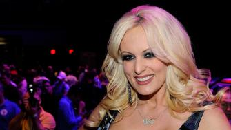 LAS VEGAS, NV - JANUARY 20:  Adult film actress Stormy Daniels appears during an autograph signing for Wicked Pictures at the 2012 AVN Adult Entertainment Expo at The Joint inside the Hard Rock Hotel & Casino January 20, 2012 in Las Vegas, Nevada.  (Photo by Ethan Miller/Getty Images)