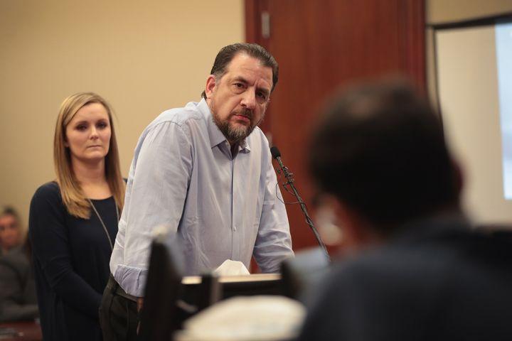 Thomas Brennan addresses Larry Nassar in court.