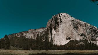 YOSEMITE NATIONAL PARK, CALIFORNIA, UNITED STATES - 2017/07/17: Panorama of El Capitan, giant granite monolith situated inside the Yosemite National Park. California, USA. (Photo by Marji Lang/LightRocket via Getty Images)