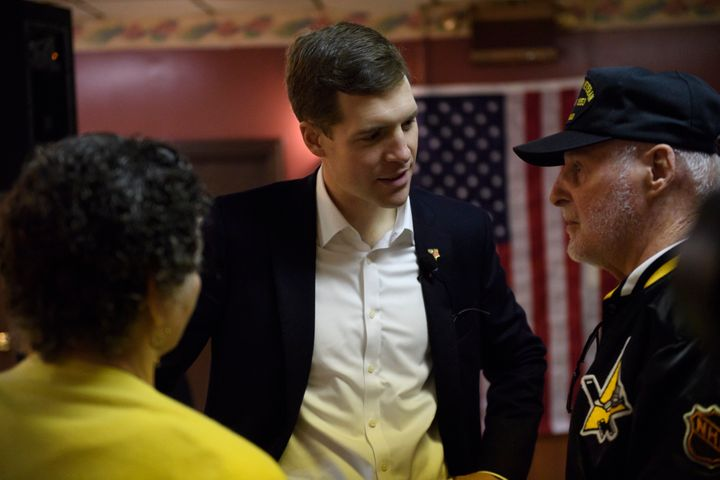 Lamb speaks to voters at the American Legion Post in Houston, Pennsylvania, on Jan. 13, 2017.