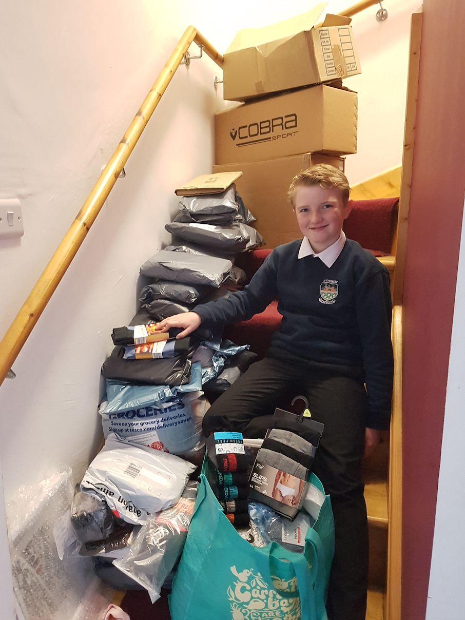11-Year-Old Collects 1,500 Pairs Of Socks For Homeless