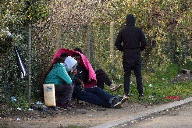 Migrants from Ethiopia in Calais in October, when a report warned that police violence against them was