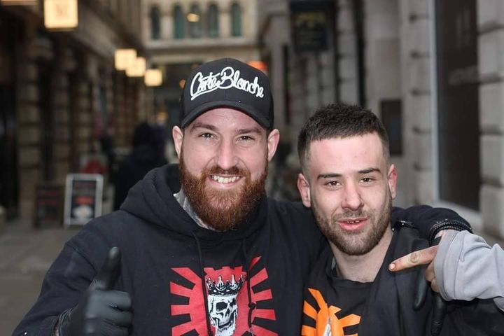Ged King (left) and James (right) who received a free trim.
