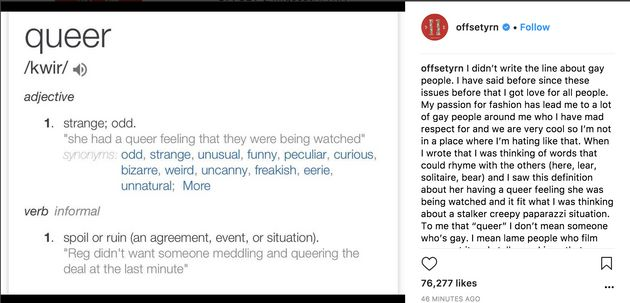 Migos Member Offset Tries To Apologize After Rapping He Can't 'Vibe