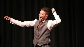 GAINESVILLE, FL - OCTOBER 19:  White nationalist Richard Spencer, who popularized the term 'alt-right' reacts to the audience as he speaks at the Curtis M. Phillips Center for the Performing Arts on October 19, 2017 in Gainesville, Florida. Spencer delivered a speech on the college campus his first since he and others participated in the 'Unite the Right' rally which turned violent in Charlottesville, Virginia.  (Photo by Joe Raedle/Getty Images)