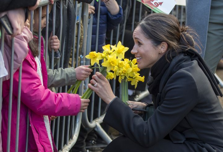 She even got flowers!