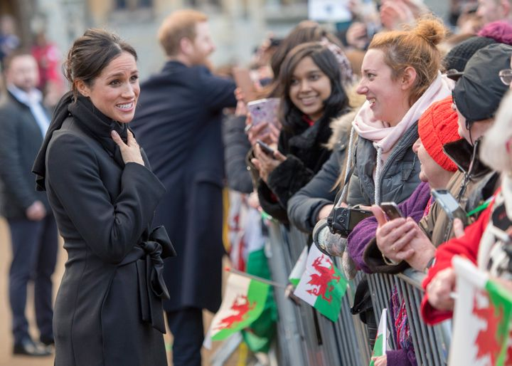 Markle clearly enjoyed chatting with everyone at the castle.