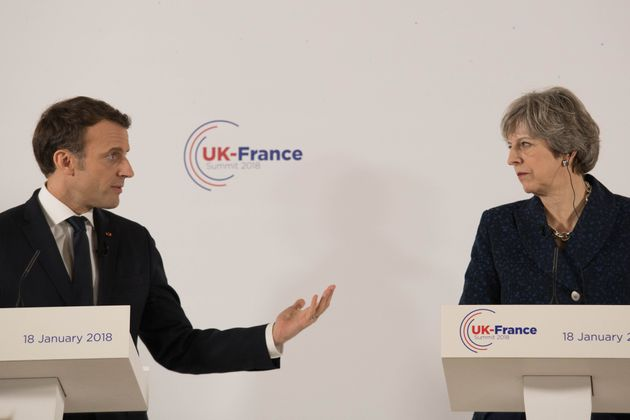 It got tricky for Theresa May and Emmanuel Macron at their press conference on