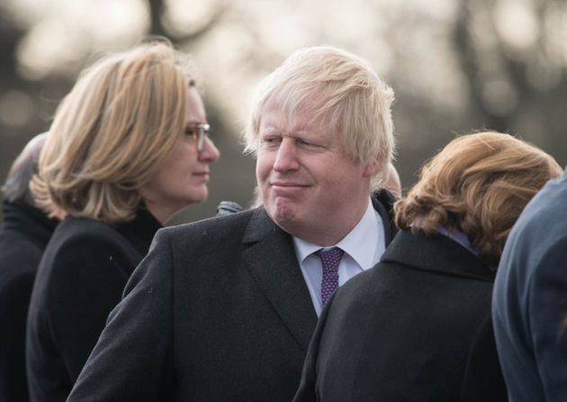 Foreign Secretary Boris Johnson was also at the UK-France