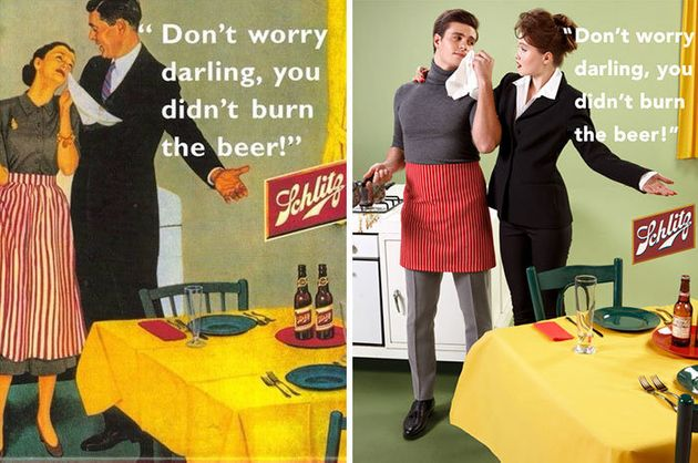 Artist Gives Vintage Ads A Feminist Makeover By Swapping Gender
