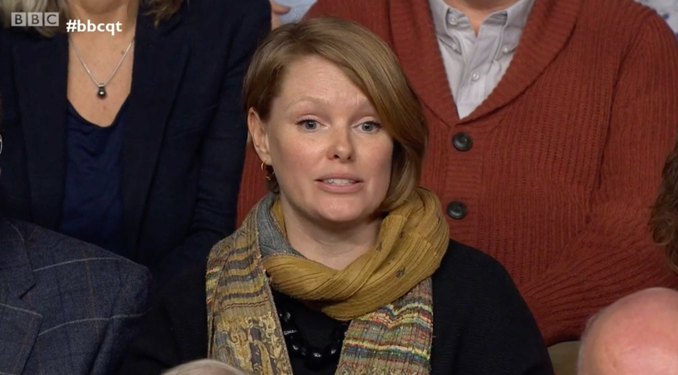BBC QT Woman Demands To Know Chris Grayling Decided To Work With Crisis-Hit