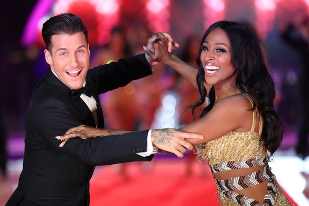 Alexandra with dance partner Gorka