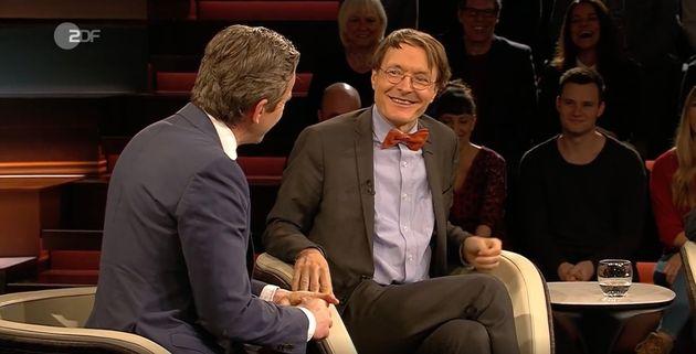 SPD-Politiker Karl Lauterbach in der Talkshow von Markus