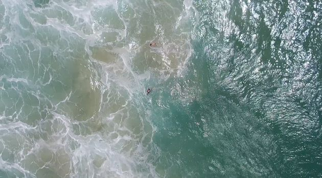 Watch The Moment A Drone Saves Two Swimmers In