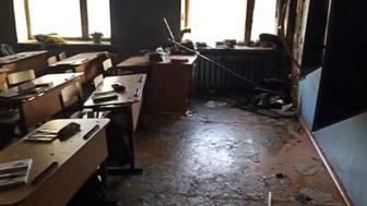 ULAN-UDE, RUSSIA - JANUARY 19, 2018: Pictured in this video screen grab is the classroom at Sosnovy Bor's No.5 Secondary School in Buryatia, where a boy attacked his teacher and schoolmates with an axe, tried to start a fire and commit suicide before his arrest, leaving seven injured. Buryat Republic branch of the Russian Investigative Committee/TASS (Photo by TASS\TASS via Getty Images)
