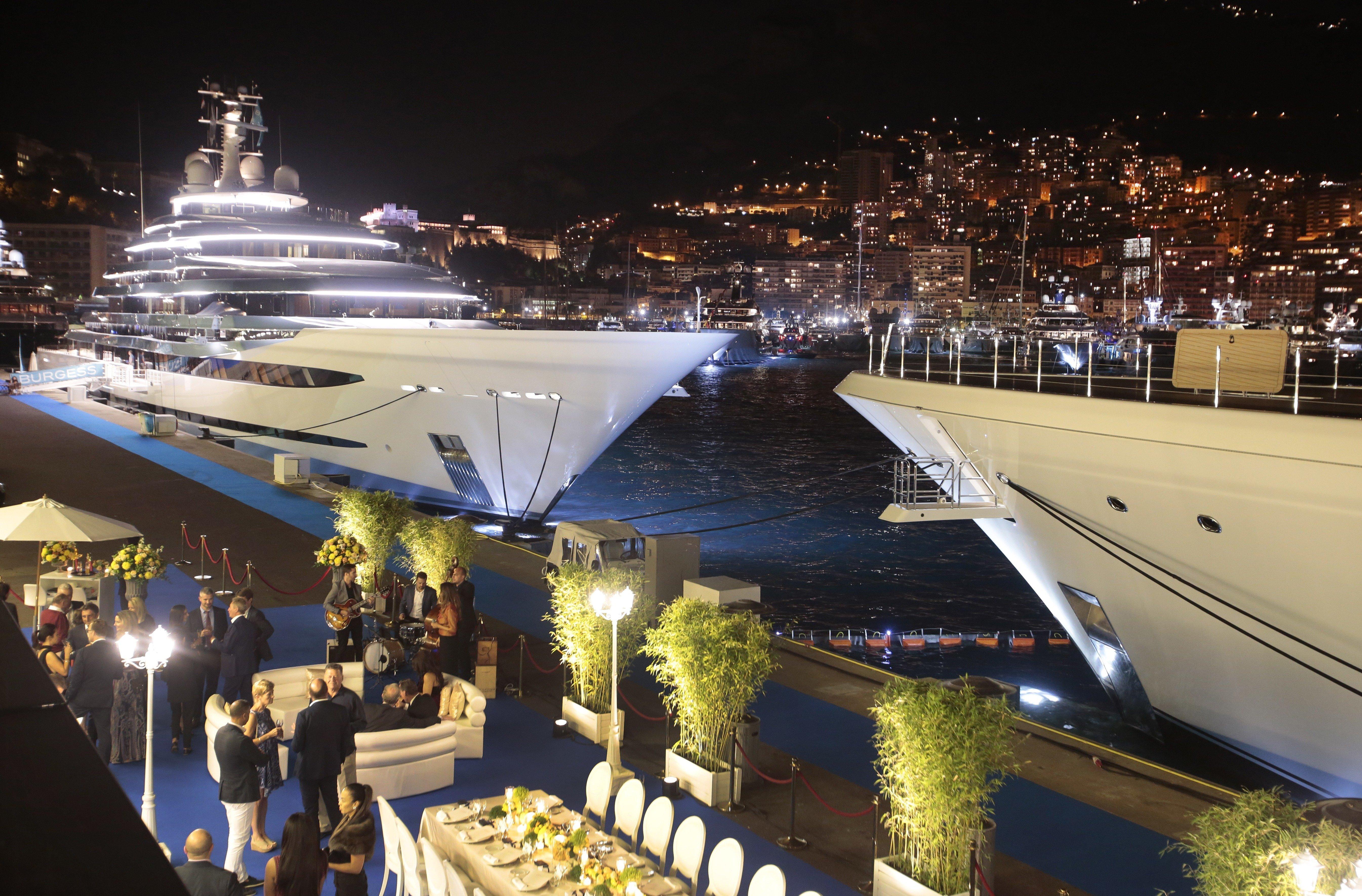 Billionaires' fortunes grew by£585 billion last year; super-yachts at the International Monaco Yacht...