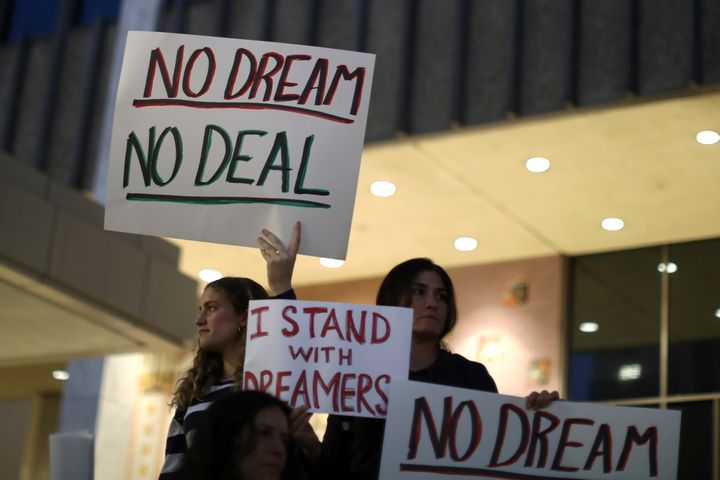 Dreamers have called on Democrats to vote against a government funding bill unless they get a deal on immigration.