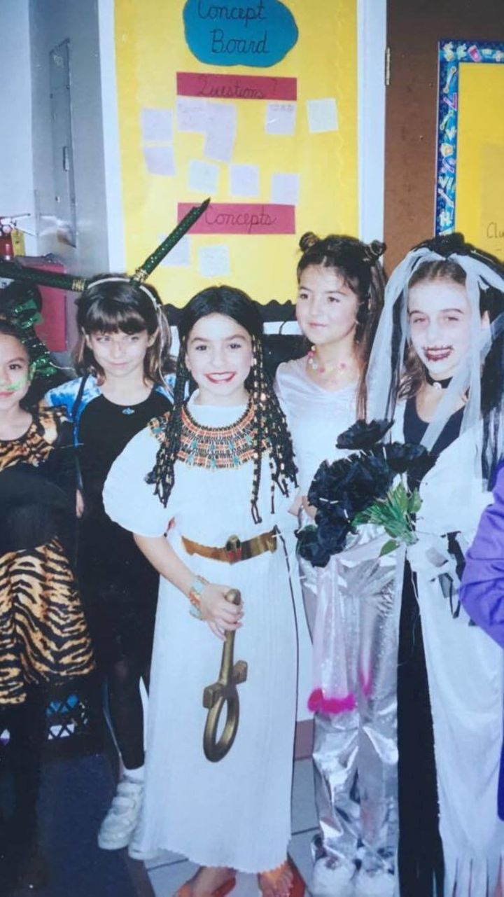 Halloween, 2002. Who needs a polyester costume from Party City when you can wear a made-in-Egypt vintage Cleopatra costume? A