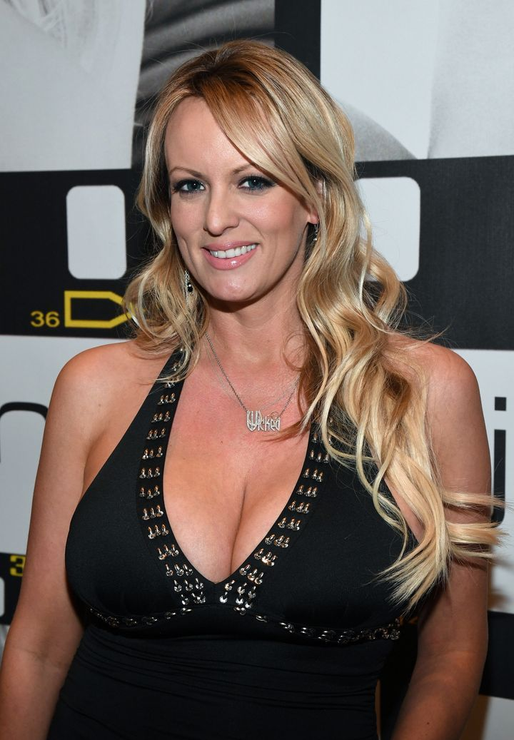 Stephanie Clifford, aka Stormy Daniels, at the AVN Adult Entertainment Expo in Las Vegas on Jan. 18, 2017.