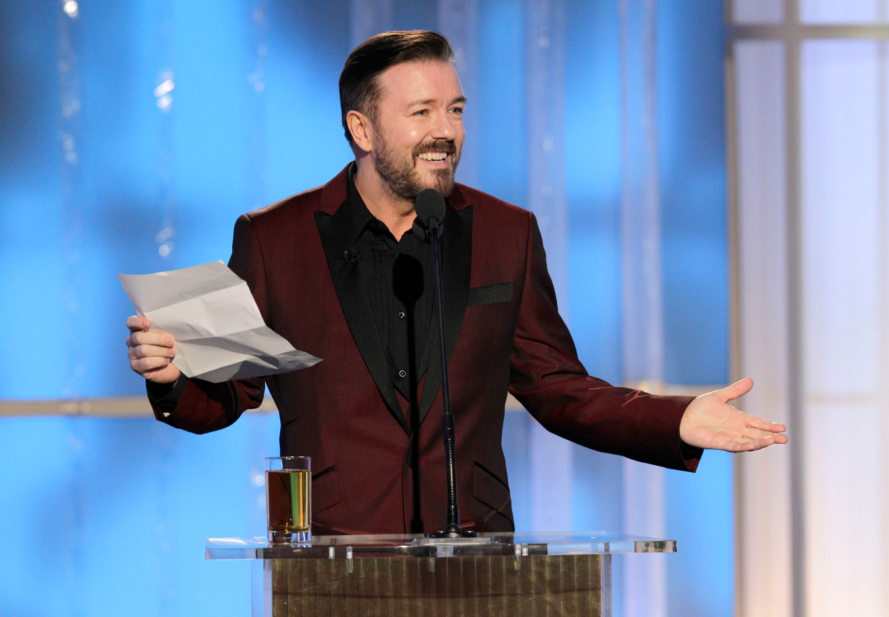 Ricky Gervais Claims He Would Have Joked About Hollywood Harassment Scandal As Host Of Golden
