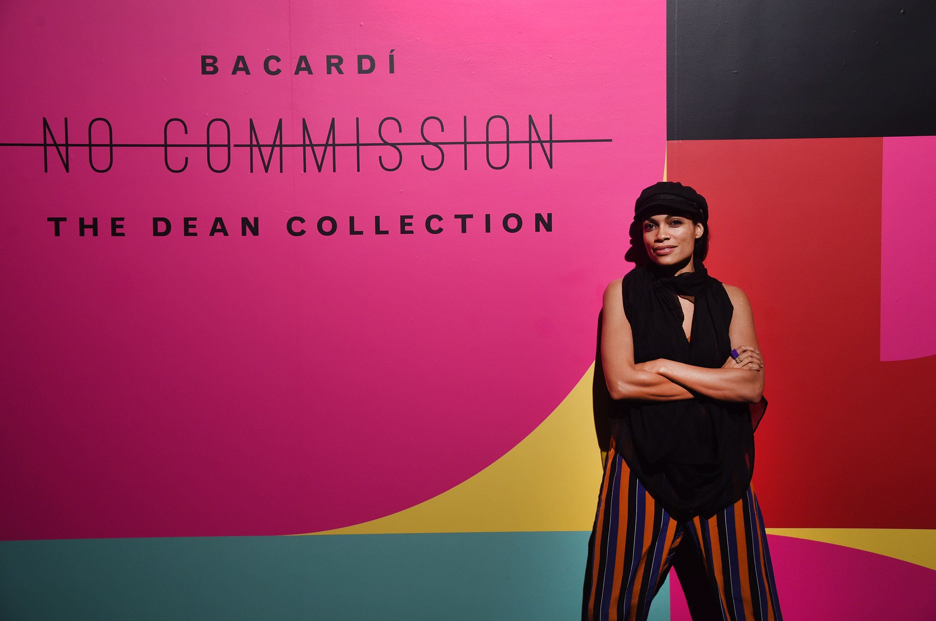 MIAMI, FL - DECEMBER 09:  Rosario Dawson attends BACARDI, Swizz Beatz and The Dean Collection bring NO COMMISSION back to Miami to celebrate 'Island Might' at Soho Studios on December 9, 2017 in Miami, Florida.  (Photo by Jamie McCarthy/Getty Images for BACARDI)