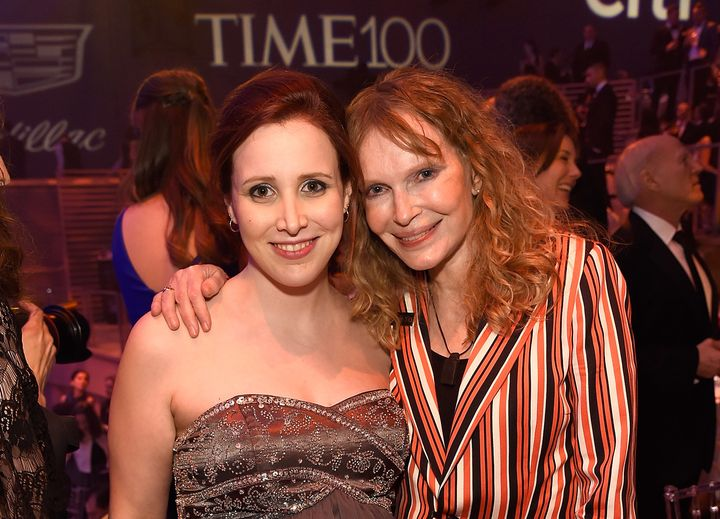 Dylan Farrow (left), with her mother Mia Farrow, in 2016.