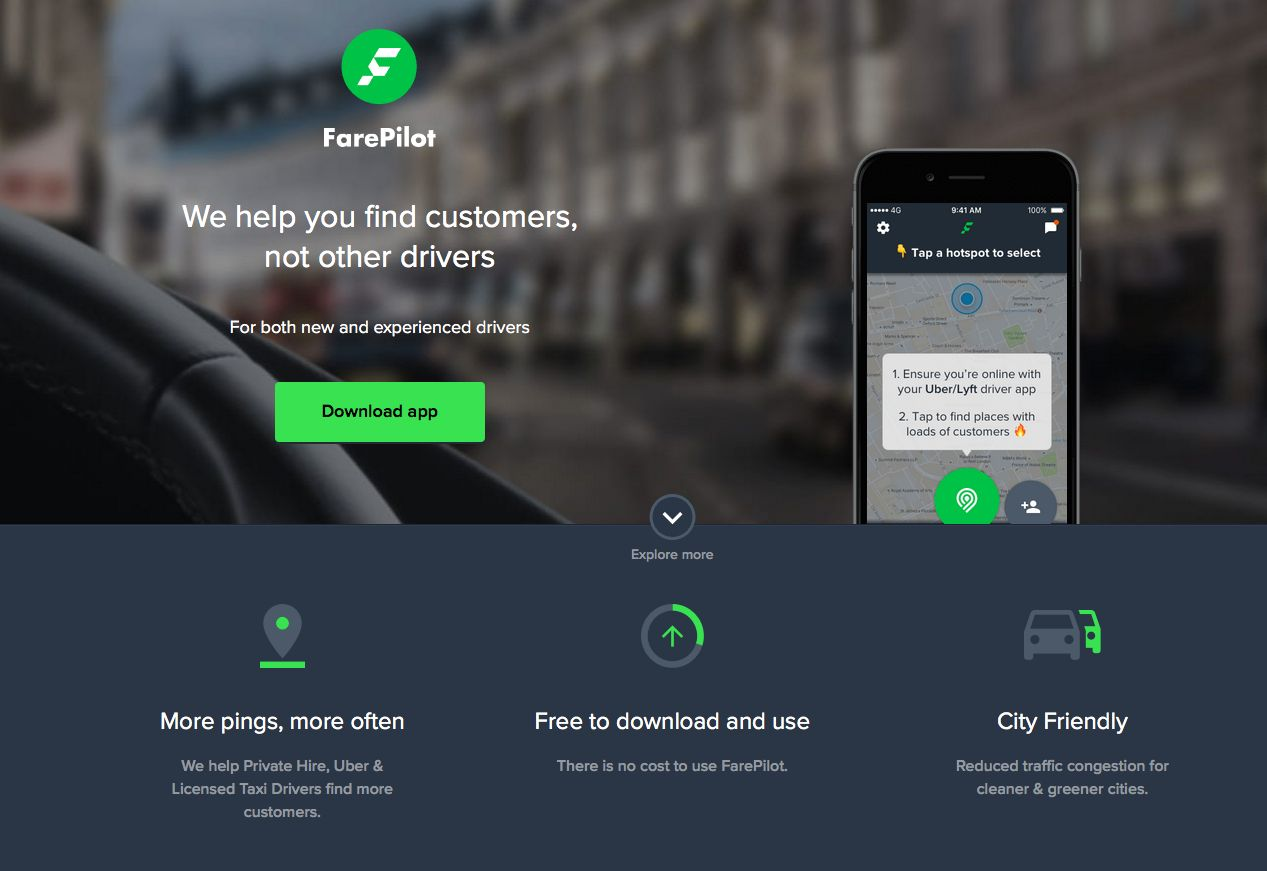 <strong>FarePilot currently helps cab drivers make more money by directing them to lucrative hotspots</strong>