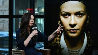 NEW YORK, NY - JANUARY 18:  Actress Catherine Zeta-Jones visits Build Series to discuss Lifetime's telefilm 'Cocaine Godmother' at Build Studio on January 18, 2018 in New York City.  (Photo by Slaven Vlasic/Getty Images)