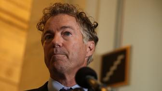 WASHINGTON, DC - SEPTEMBER 25:  U.S. Sen. Rand Paul (R-KY) speaks to members of the press on health care September 25, 2017 on Capitol Hill in Washington, DC. Sen. Paul discussed on the Graham-Cassidy health care bill.  (Photo by Alex Wong/Getty Images)