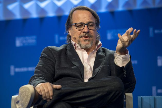 Tronc chairman Michael Ferro speaks in Beverly Hills, California on May 3,