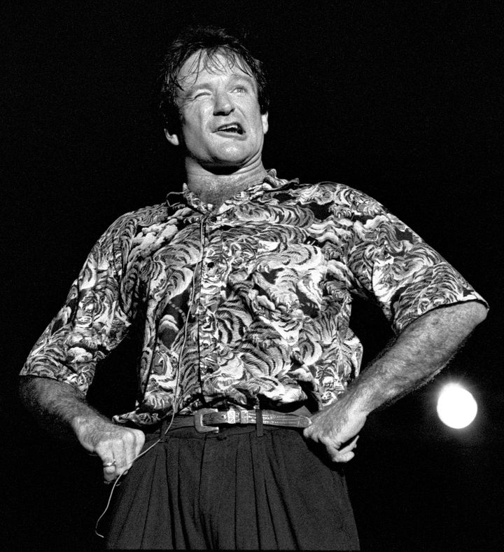 Comedian Robin Williams performs in Atlanta on May 10, 1986.