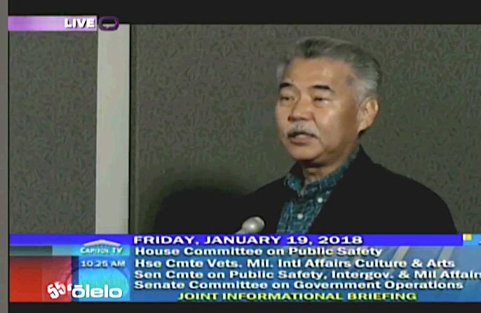 Hawaii Gov. David Ige (D)has been facing criticism forthe false missile alert that sent the state into a panic.