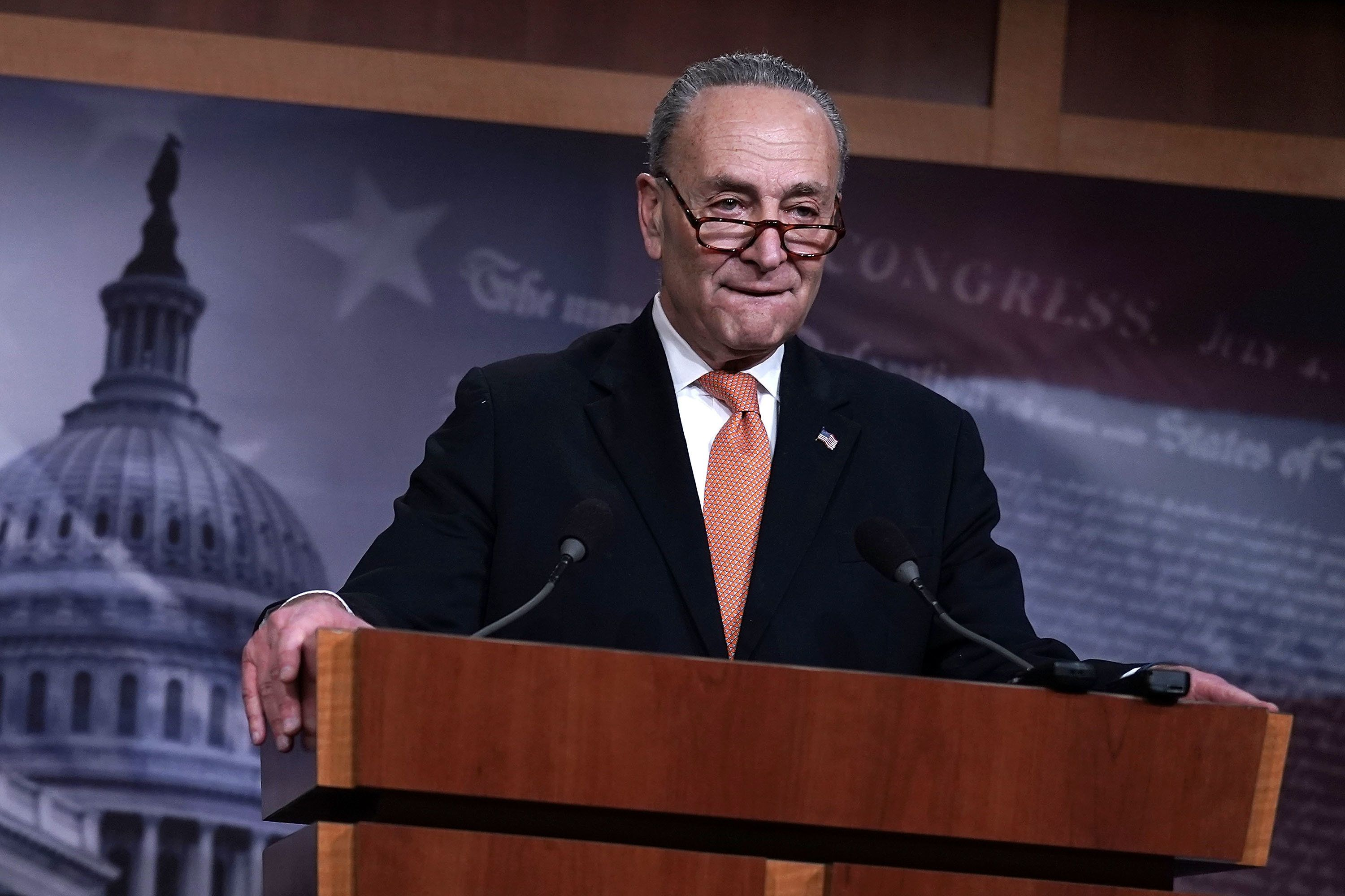 Senate Minority Leader Chuck Schumer (D-N.Y.) said in a speech that he had expressed openness to funding a border wall d