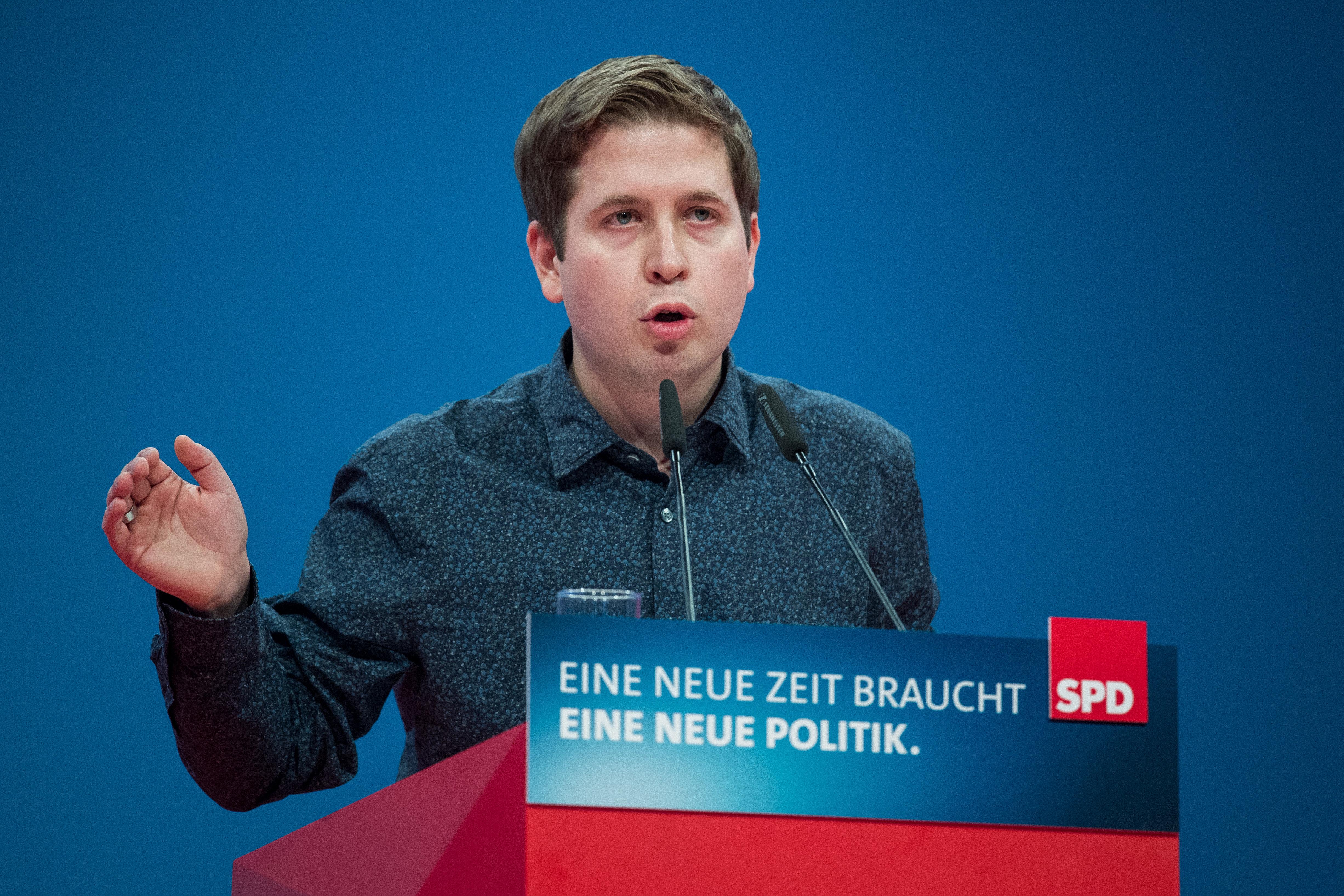 Lukas Schulze via Getty Images                   Kevin Kühnert konnte viele Genossen überzeugen